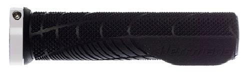 Herrmans handvatten Shark Lock Fin 130 x 22 mm TPE zwart/wit