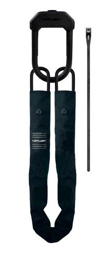 Hiplok kettingslot E DX staal/nylon 1100 x 10 mm zwart