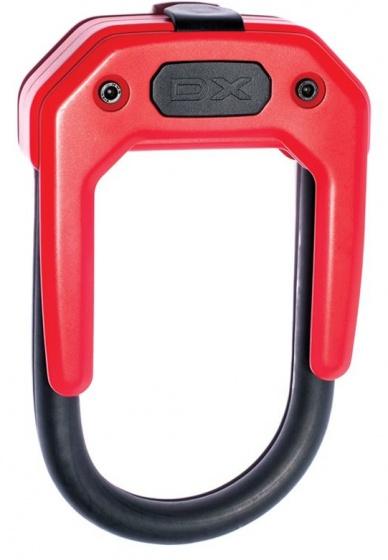 Hiplok U slot DX 14 mm staal rood/zwart