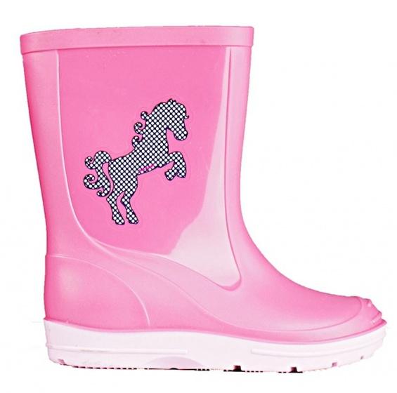 girls' rain boots PVC pinklight pink size 23