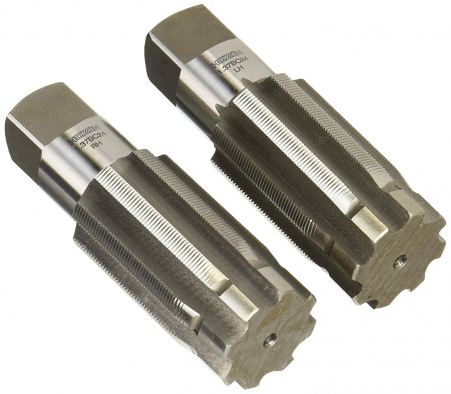 Hozan bottom bracket tap zilver 10,5 cm