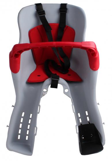 HTP fietszitje voor Kiki junior grijs/rood