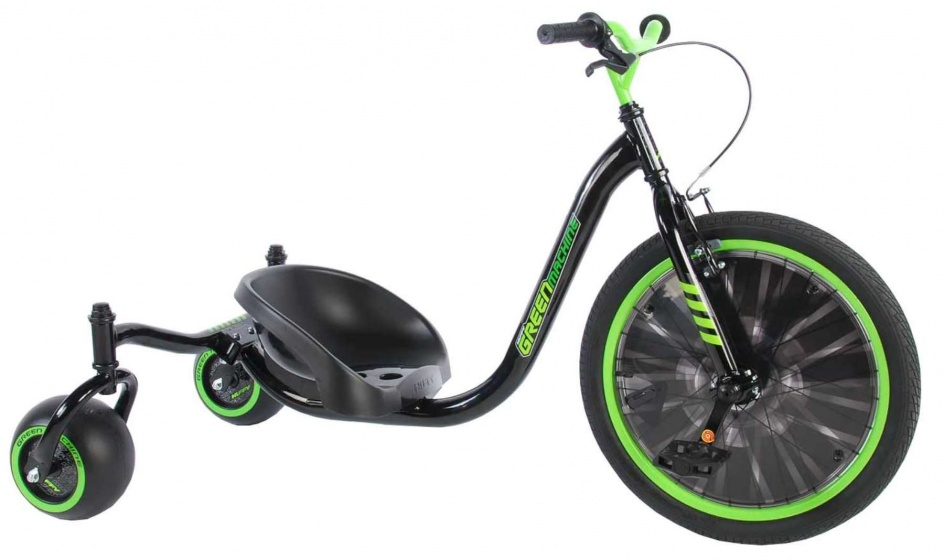 Huffy Green Machine Drift Trike 20 Inch Junior Groen/Zwart