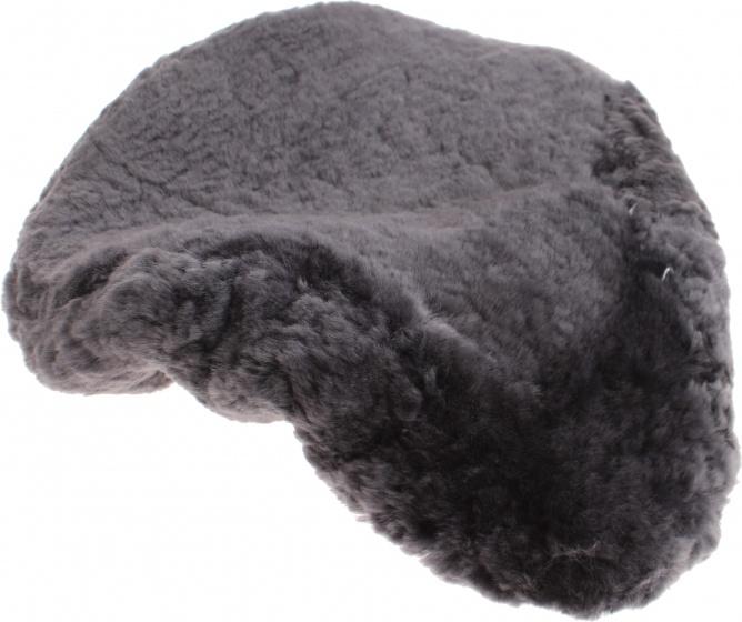 Hulzebos zadeldekje schapenvacht grijs 28 cm