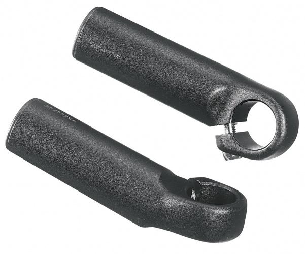 Ergotec bar end 895 aluminium zwart 2 stuks