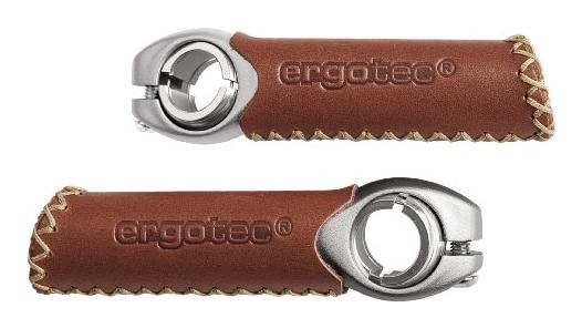 Ergotec Bar Ends EVO 1 Leer Bruin