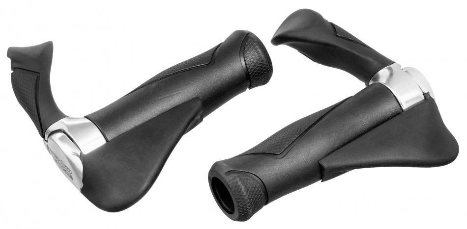 Ergotec Handvat Multiflex 130 / 130 mm Zwart Zilver