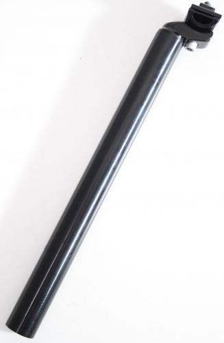 Ergotec Zadelpen vast Patent 30,0 x 350 mm aluminium zwart