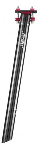 Xtasy Zadelpen vast Super Light 30,9 x 400 mm aluminium zwart/rood