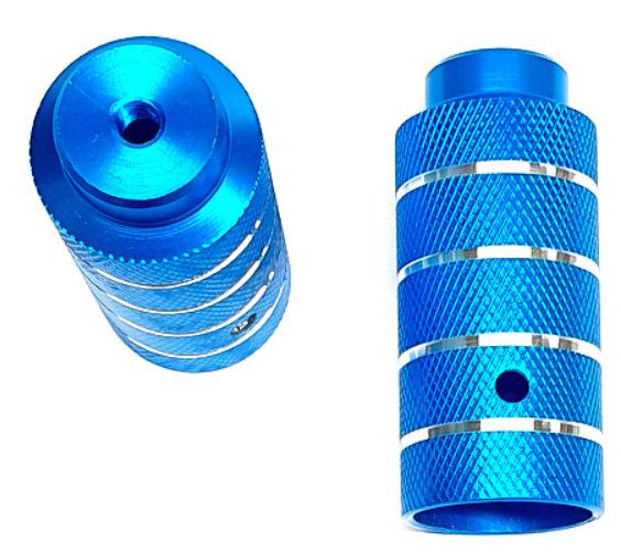 Korting Hzb Asverlengers pegs Bmx Freestyle 110 Mm Blauw 2 Stuks