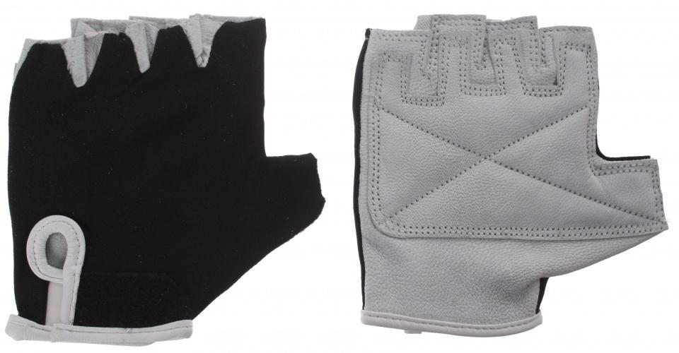 HZB fietshandschoenen Comfort leer/gel grijs/zwart maat L
