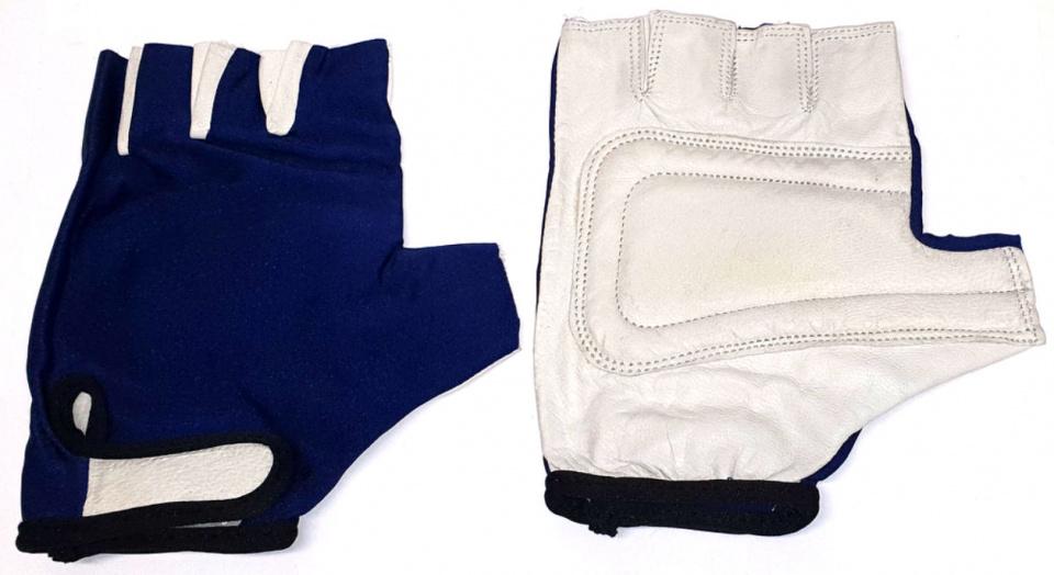 HZB fietshandschoenen Sky Comfort lycra blauw/wit maat XL