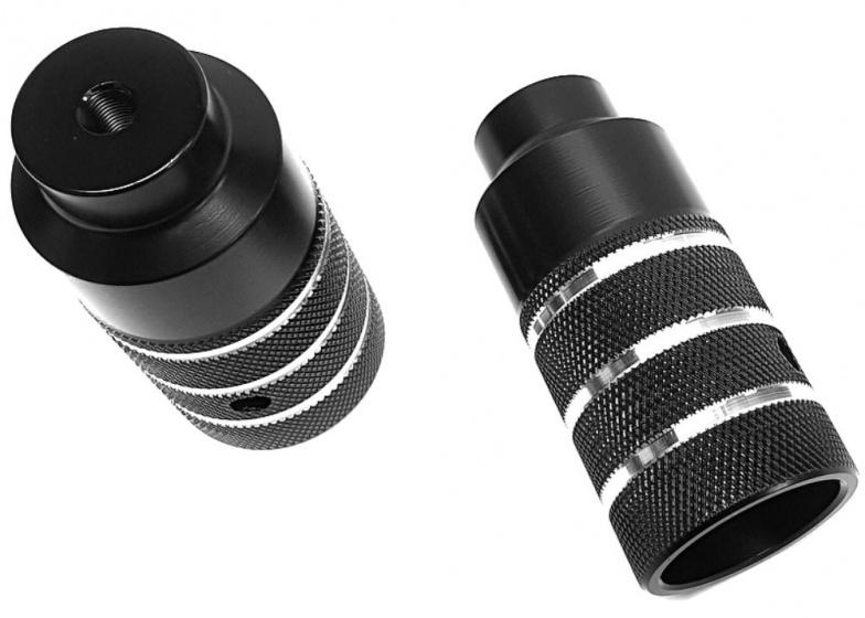 HZB pegs/asverlengers BMX Freestyle 110 mm staal zwart 2 stuks