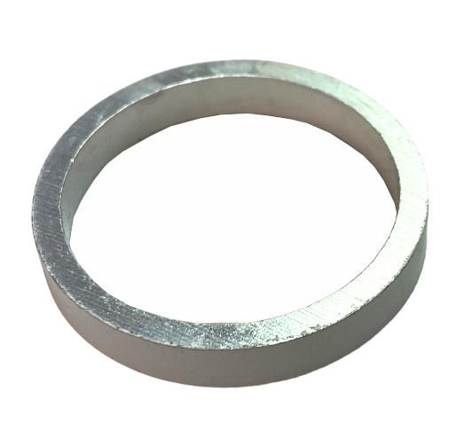 HZB spacers 28,6 mm 1 1/8 inch 5 mm zilver 5 stuks