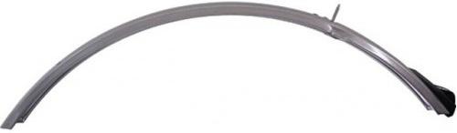 HZB spatbord voor 28 inch 50 mm staal grijs