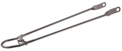 HZB spatbordstang 28 inch staal 10 mm grijs