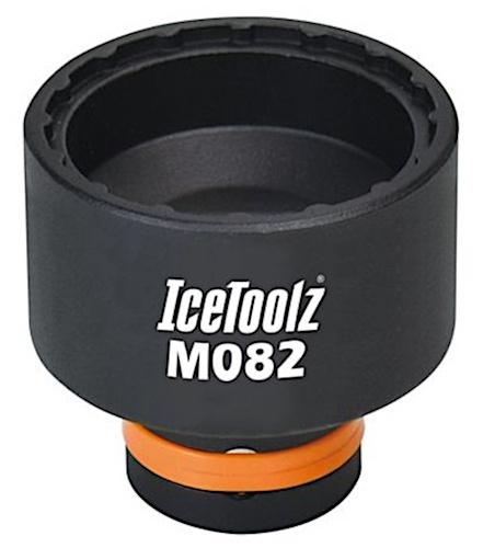 IceToolz centerlock afnemer M082 150 x 34 mm zwart/oranje
