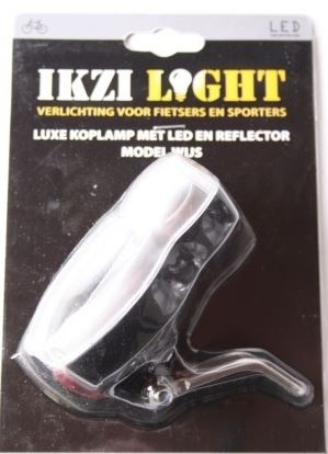 Ikzi Light Koplamp Reflector Kroonboutbevestiging 2x LED Wit