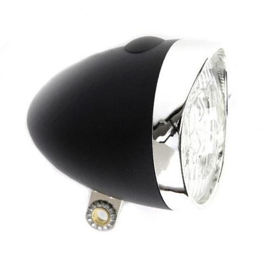 Ikzi Light Koplamp Retro LED Zwart Batterij