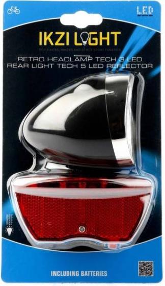 Ikzi Light verlichtingsset batterij Retro led zwart