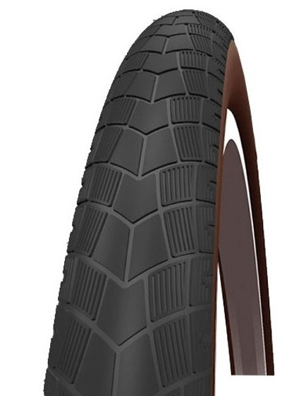 Impac buitenband Bigpac PP 28 x 2.00 (50 622) BS117 zwart/bruin