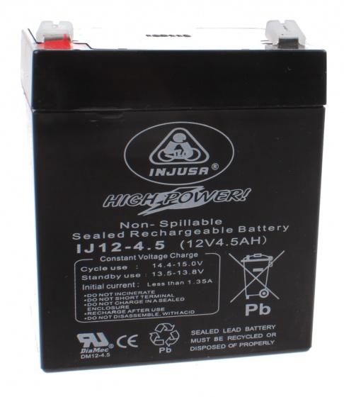Injusa oplaadbare batterij High Power 12V 4,5 AH zwart