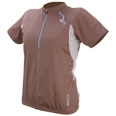 IXS Fietsshirt Aurora Basic dames bruin maat S