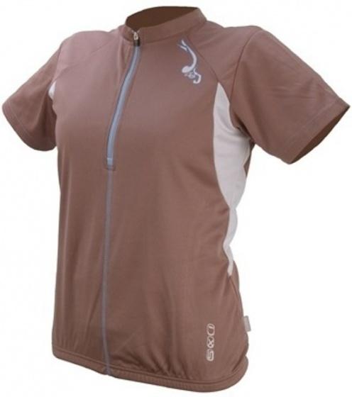 IXS Fietsshirt Aurora Basic dames bruin maat M