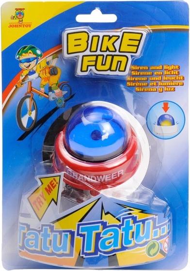 Johntoy fietsbel Bike Fun brandweer sirene licht