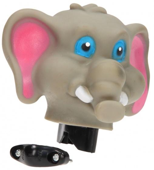Johntoy fietstoeter olifant grijs 9 cm