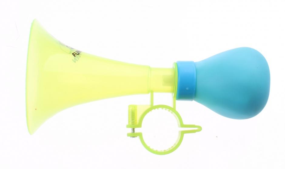 Jonotoys fietstoeter Trumpet 14 cm groen