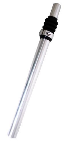 Post Moderne Zadelpen verend kaars 25.4 x 350 mm aluminium zilver
