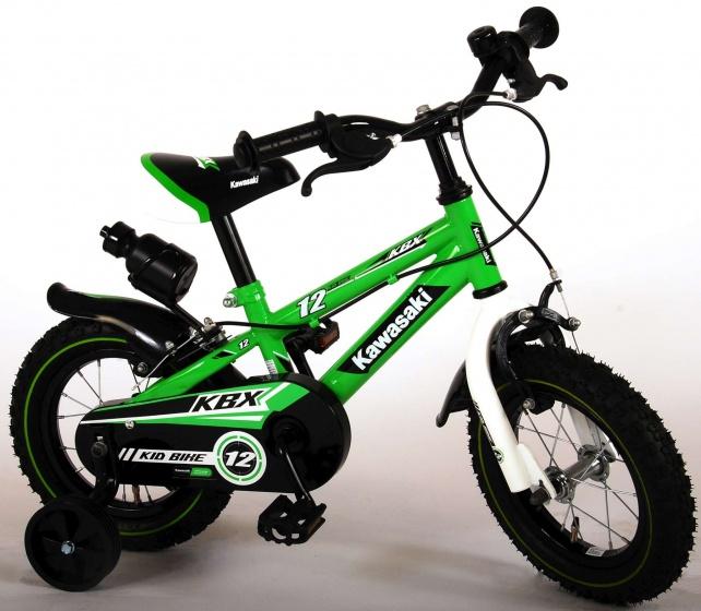 Kawasaki kinderfiets 12 Inch 21,5 cm Jongens Knijprem Groen