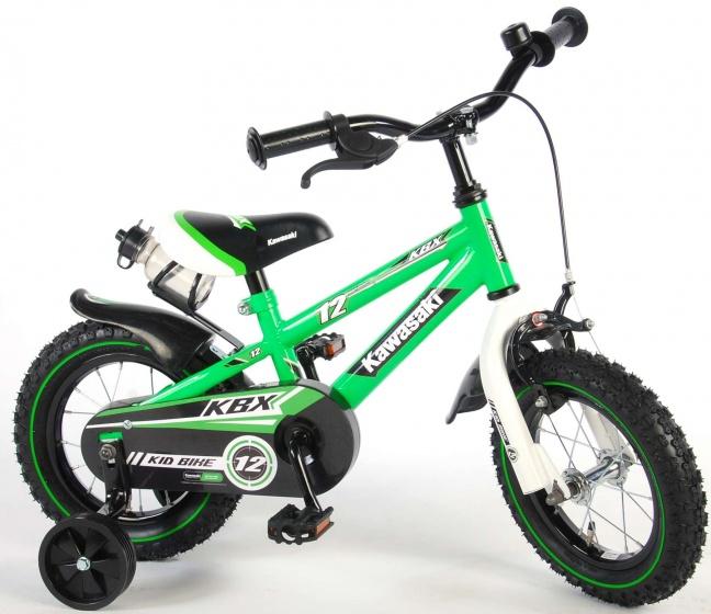Kawasaki kinderfiets 12 Inch 21,5 cm Jongens Terugtraprem Groen