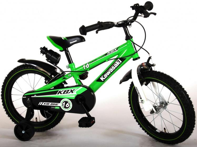 Kawasaki kinderfiets 16 Inch 25,4 cm Jongens Knijprem Groen
