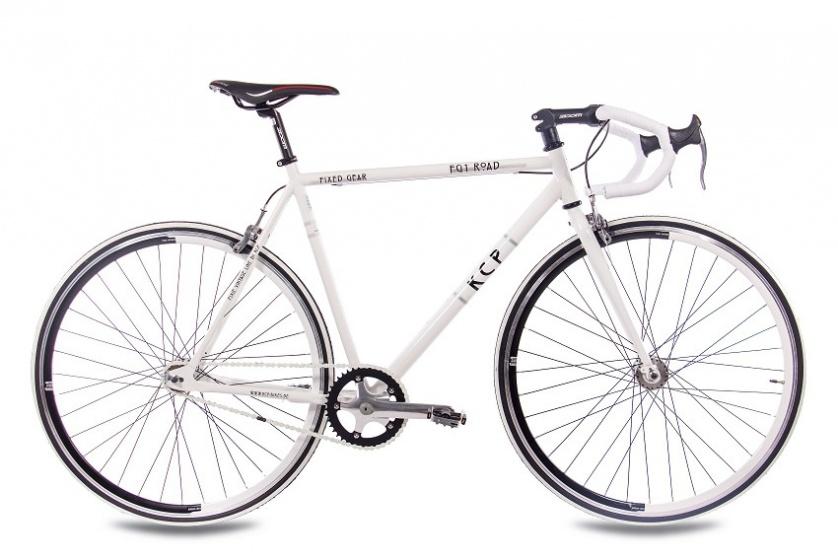Kcp - Single Speed 28 Inch 59 Cm Heren Knijprem Wit