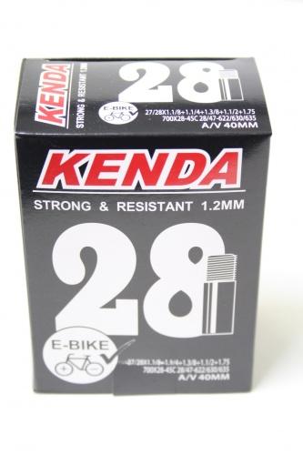 Kenda Binnenband E Bikes 27/28x1 1/8/1.75 (700 x 45C) AV 40 mm Onderdelen & Accessoires Zwart Binnenbanden 27 Inch Voor 16:00 uur besteld, dezelfde dag verzonden