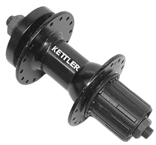Kettler achternaaf uitval casette 8/9/10V 32G aluminium zwart