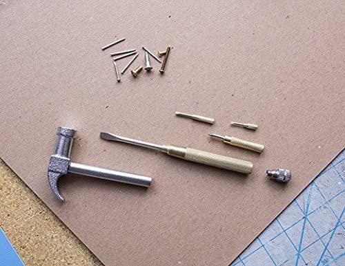 Kikkerland schroevendraaierset 19 cm messing/staal 6 delig