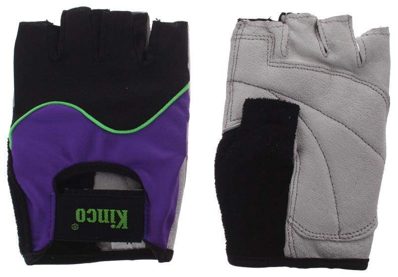Kinco fietshandschoenen Modern zwart/paars maat 7