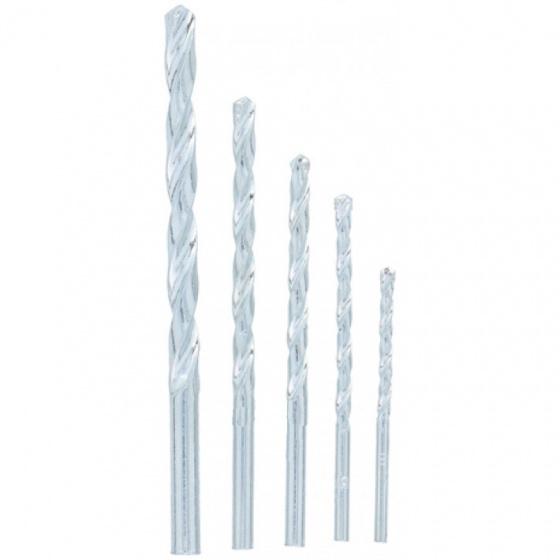 Kinzo steenborenset 8 x 8 x 114 mm staal 5 stuks