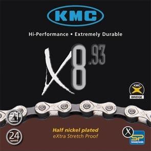 KMC Ketting 1/2 X 3/32 X8 93 18 21 24SP 116 Schakels