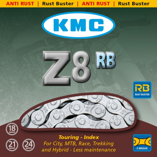 KMC Z8RB ketting 1/2 x 3/32 inch 18/21/24V 116 schakels