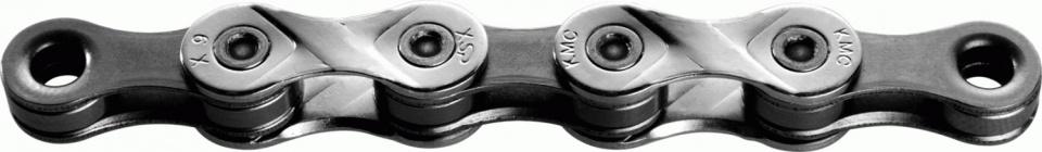 KMC ketting X9 1/2 x 11/128 inch 114 schakels 9S zilver/grijs