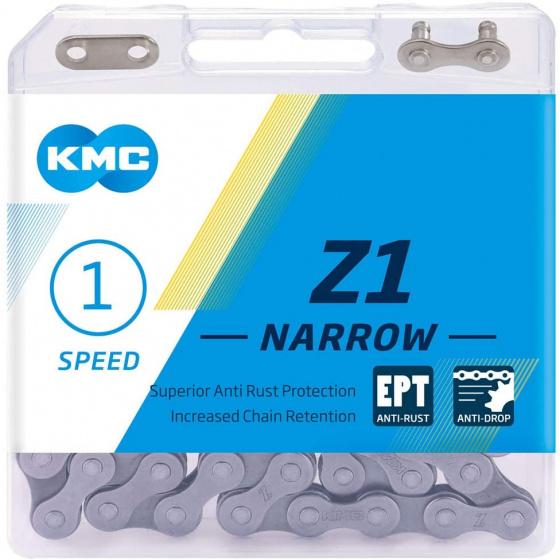 KMC ketting Z1 smal 1/2 x 3/32 inch 112S single speed zilver