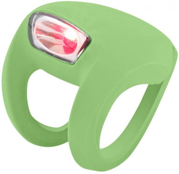 Knog fietslampje Frog Strobe 31,8 mm siliconen groen