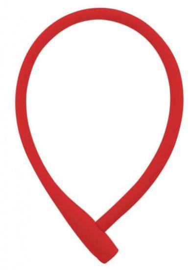 Knog kabelslot Kransky 74 cm siliconen rood