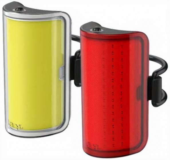 Knog verlichtingsset Mid' Cobber USB oplaadbaar rood/geel