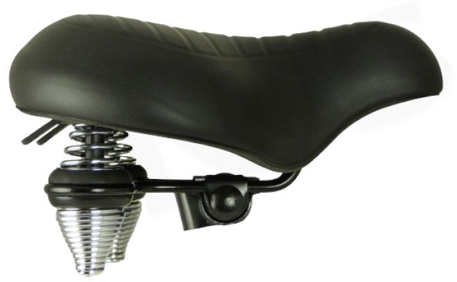 Knus zadel Supreme Wave kunstleer/staal zwart