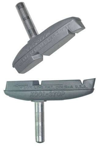 Kool Stop remblokken Eagle 2 cantilever 64,1 x 10,3 mm zilver 2 stuks